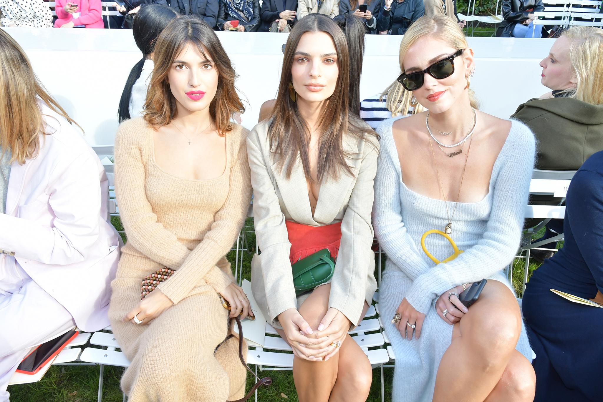 Jeanne Damas, Emily Ratajkowski and Chiara Ferragni