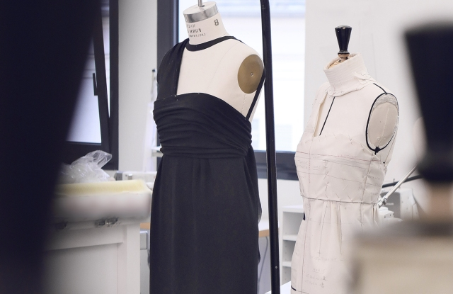 """A behind-the-scenes glimpse at the Chanel costumes by Karl Lagerfeld for the """"Bolero"""" pas de deux."""