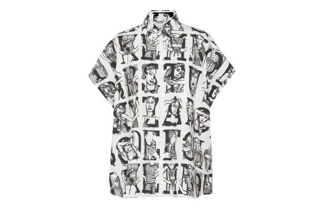 A shirt from the Miu Miu Type collection