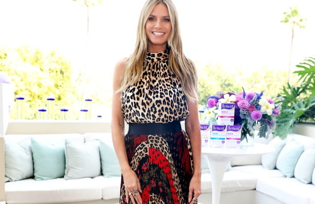Perfectil US Ambassador Heidi Klum Hosts their launch event at the Waldorf Astoria Hotel. Perfectil is the UK's leading nutritional supplement for skin, hair and nails, and Klum will help introduce the vitamins stateside. - Pictured: Heidi Klum - Photo by: Sara Jaye Weiss/StartraksPhoto.com