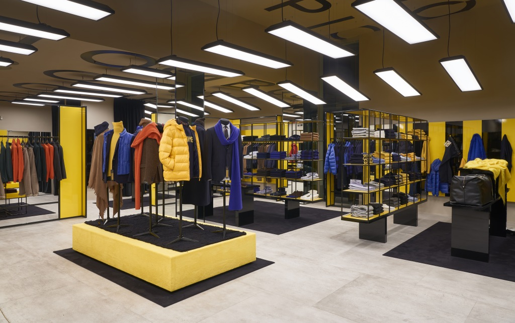 The new Piombo label first store in Milan.