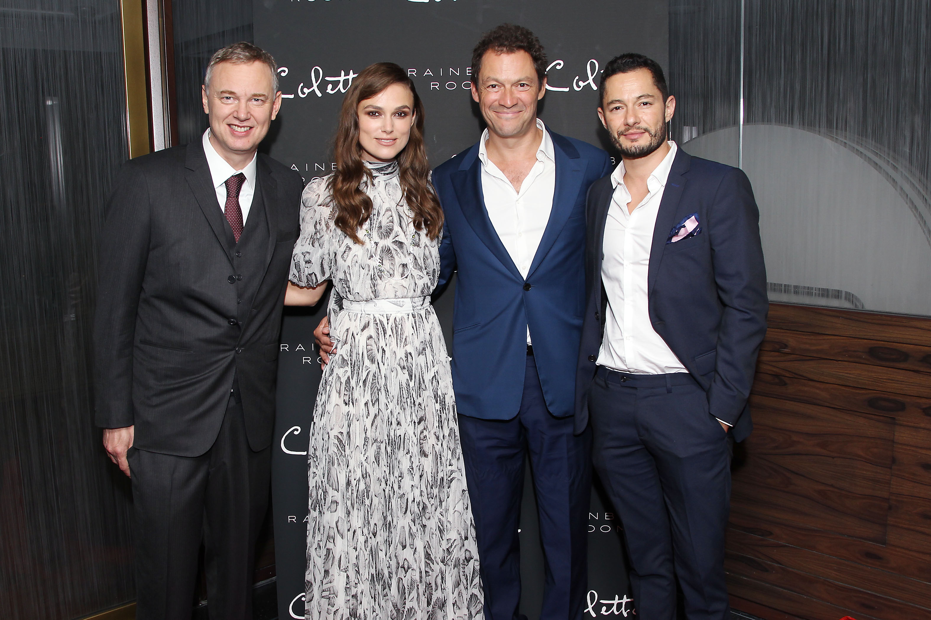 - New York, NY - 9/13/18 - New York Special Screening of COLETTE - After Party-Pictured: Wash Westmoreland (Director), Keira Knightley, Dominic West, Jake Graf-Photo by: Patrick Lewis/Starpix-Location: Rainbow Room