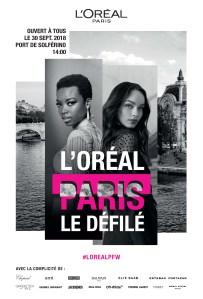 The poster for Le Défilé L'Oréal Paris