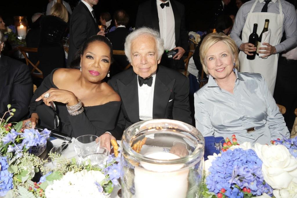 Oprah Winfrey, Ralph Lauren, Hilary Clinton