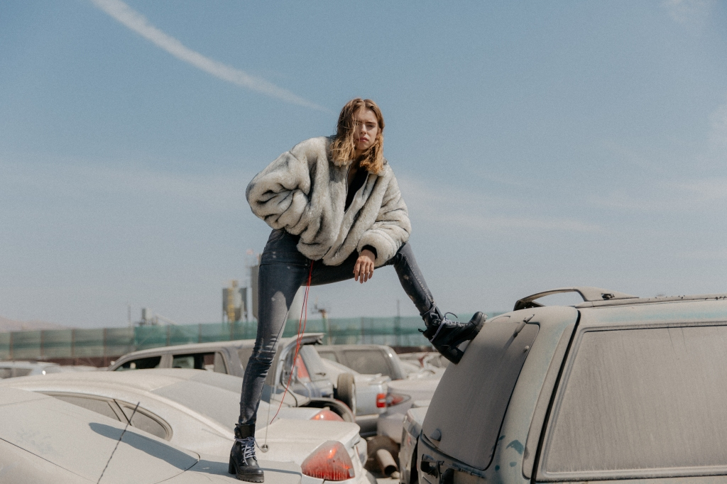 A look from the new Represent fall 2018 women's range