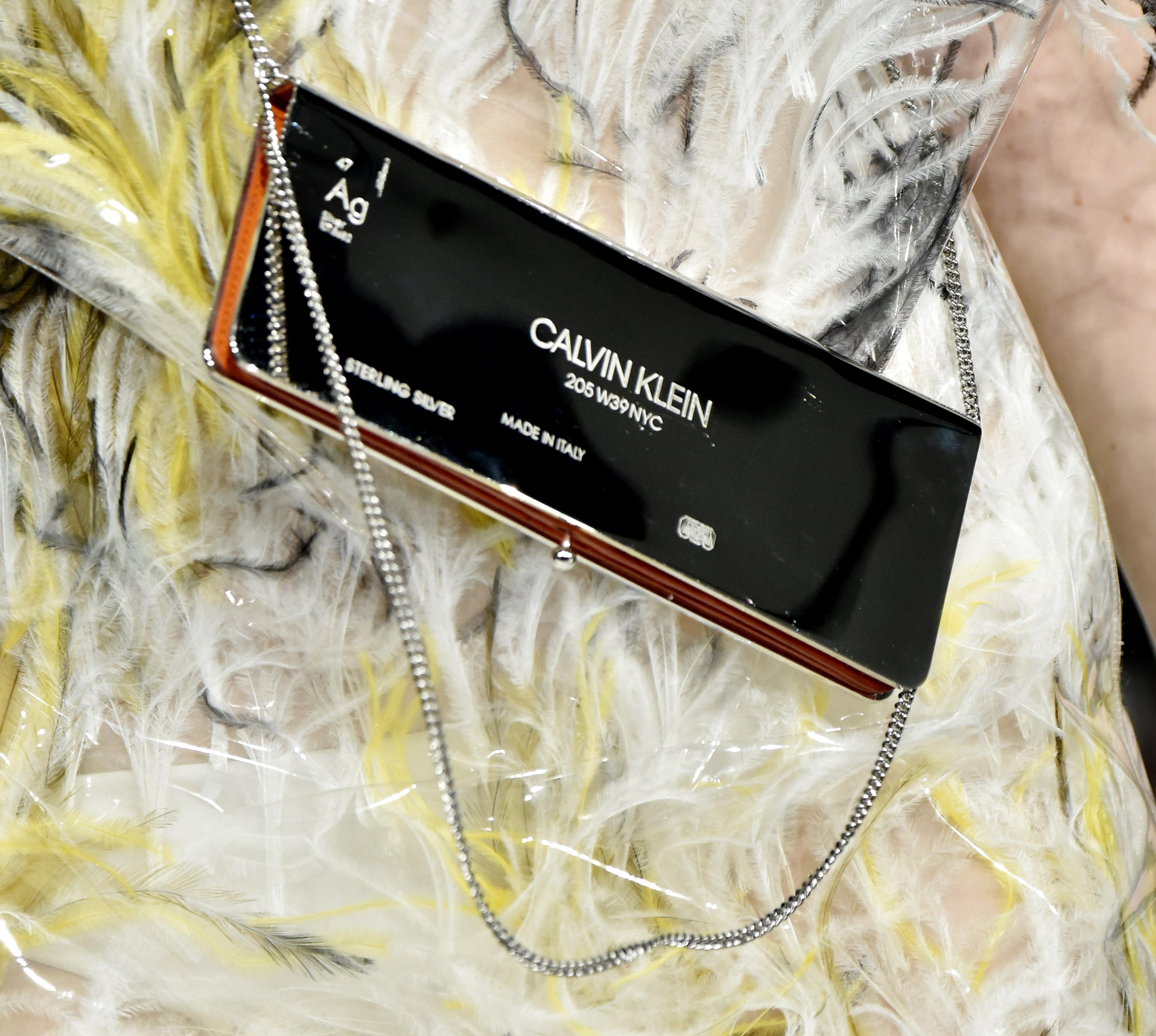Model on the catwalk, detailCalvin Klein show, Runway, Fall Winter 2017, New York Fashion Week, USA - 10 Feb 2017