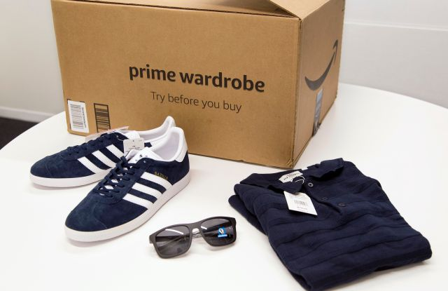 Items ordered through Prime Wardrobe are displayed in New York. Amazon hopes to turn your home into a fitting room, after shipping you a box of fashions to try on before paying. It sounds a lot like Stitch Fix, Trunk Club or other services that send clothing in a box. But there are differences: There are no stylists with Prime Wardrobe, so you'll have to pick out your own shirts or skirts. It's not a subscription, so there's no monthly commitment or additional fees, although you need to be a Prime memberOn The Money Prime Wardrobe Review, NEW YORK, USA - 12 Apr 2018