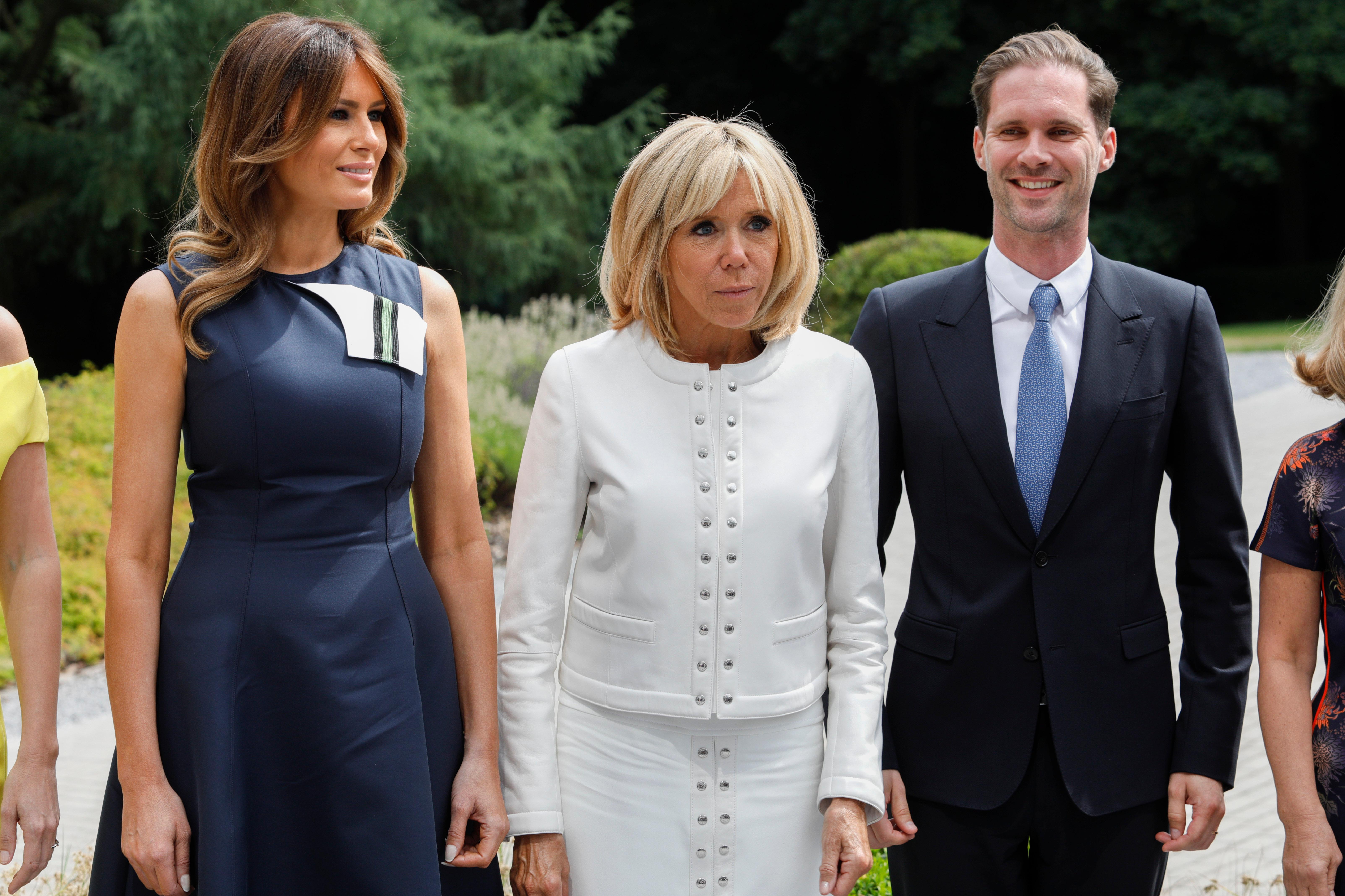Melania Trump, Brigitte Trogneux, Gauthier Destenay visit the Queen Elisabeth Music Chapel in WaterlooNATO Summit, Brussels, Belgium - 11 Jul 2018
