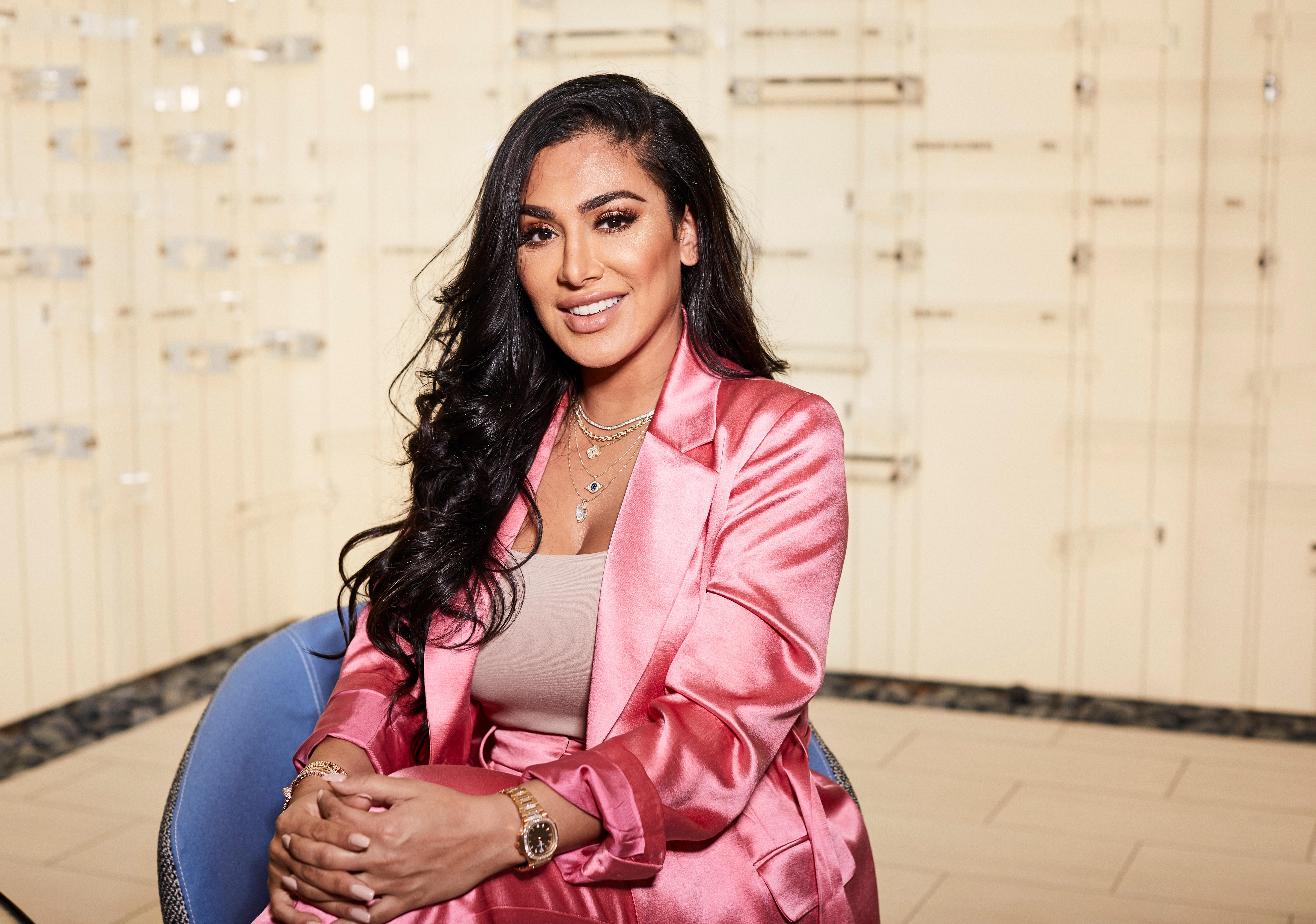Huda Kattan poses for a portrait in New YorkHuda Kattan and Mona Kattan Portrait Session, New York, USA - 13 Jun 2018