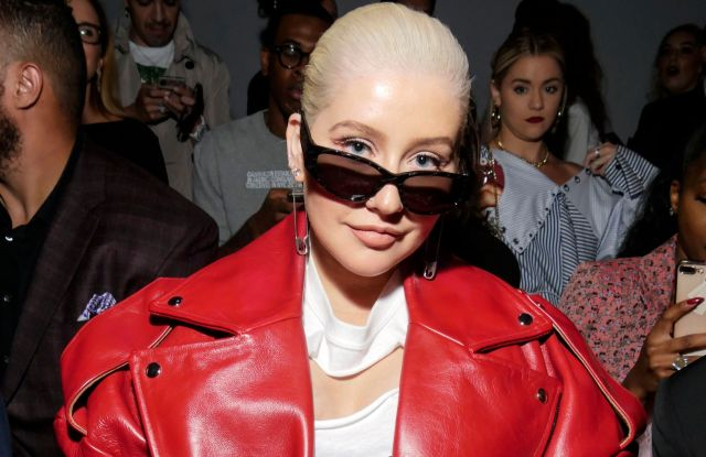 Christina Aguilera in the front row.