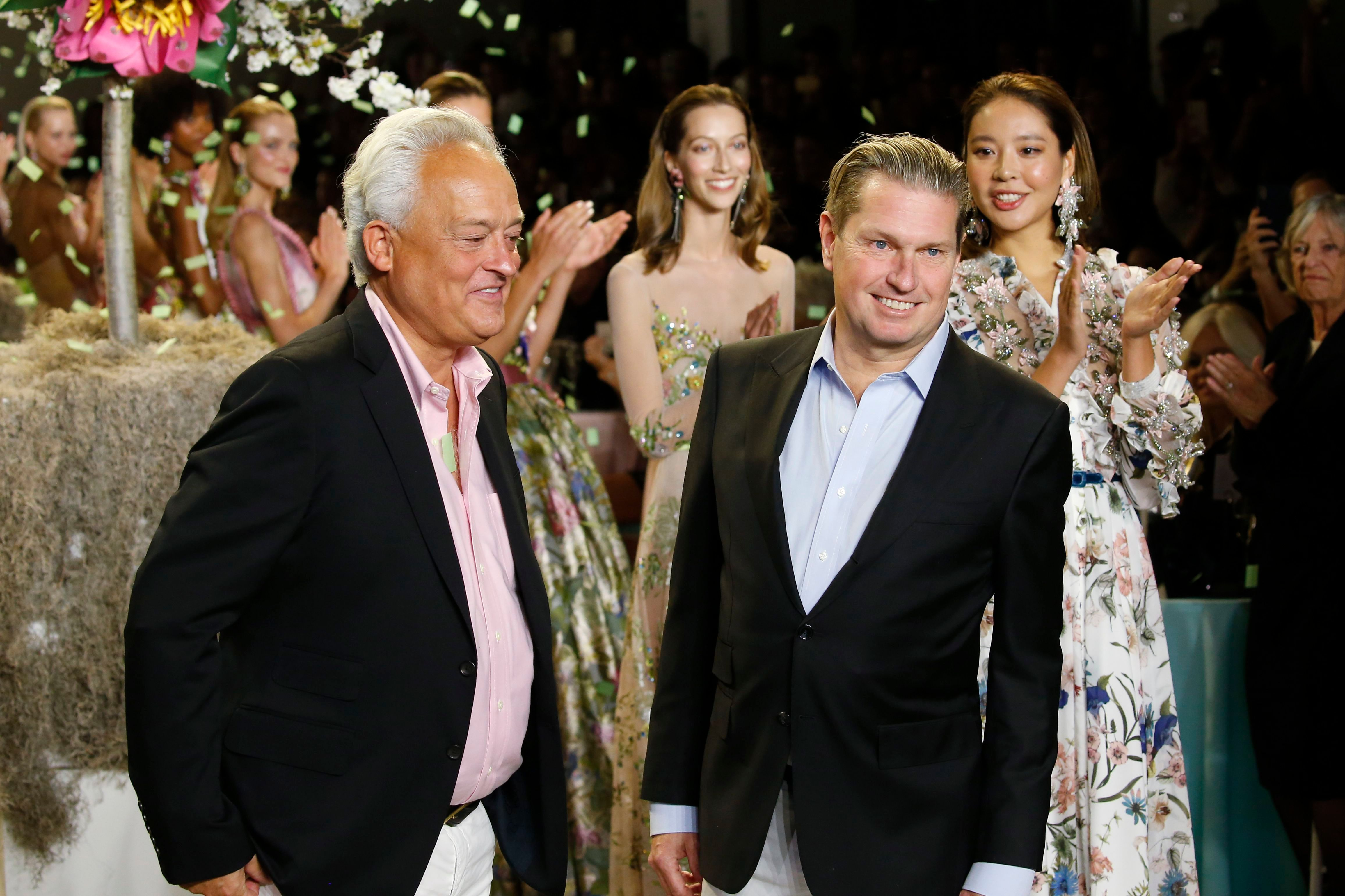 Mark Badgley and James Mischka on the catwalkBadgley Mischka show, Runway, Spring Summer 2019, New York Fashion Week, USA - 08 Sep 2018