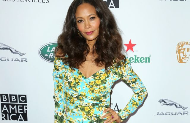 Thandie Newton arrives at the 2018 Primetime Emmy Awards - BAFTA Los Angeles TV Tea at the Beverly Hilton, in Beverly Hills, Calif2018 Primetime Emmy Awards - BAFTA Los Angeles TV Tea, Beverly Hills, USA - 15 Sep 2018