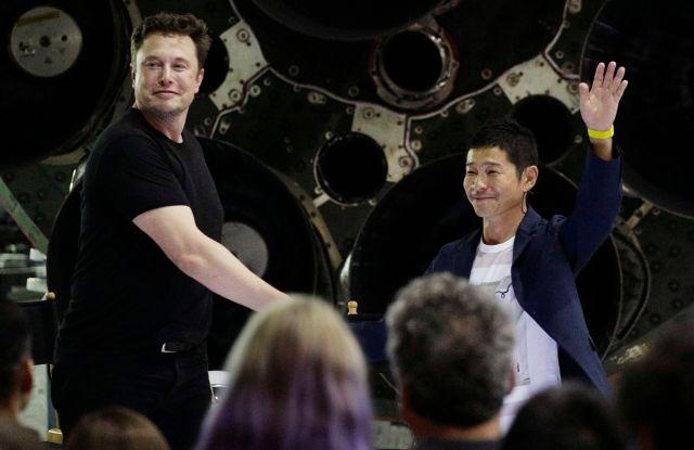 Musk and Maezawa.