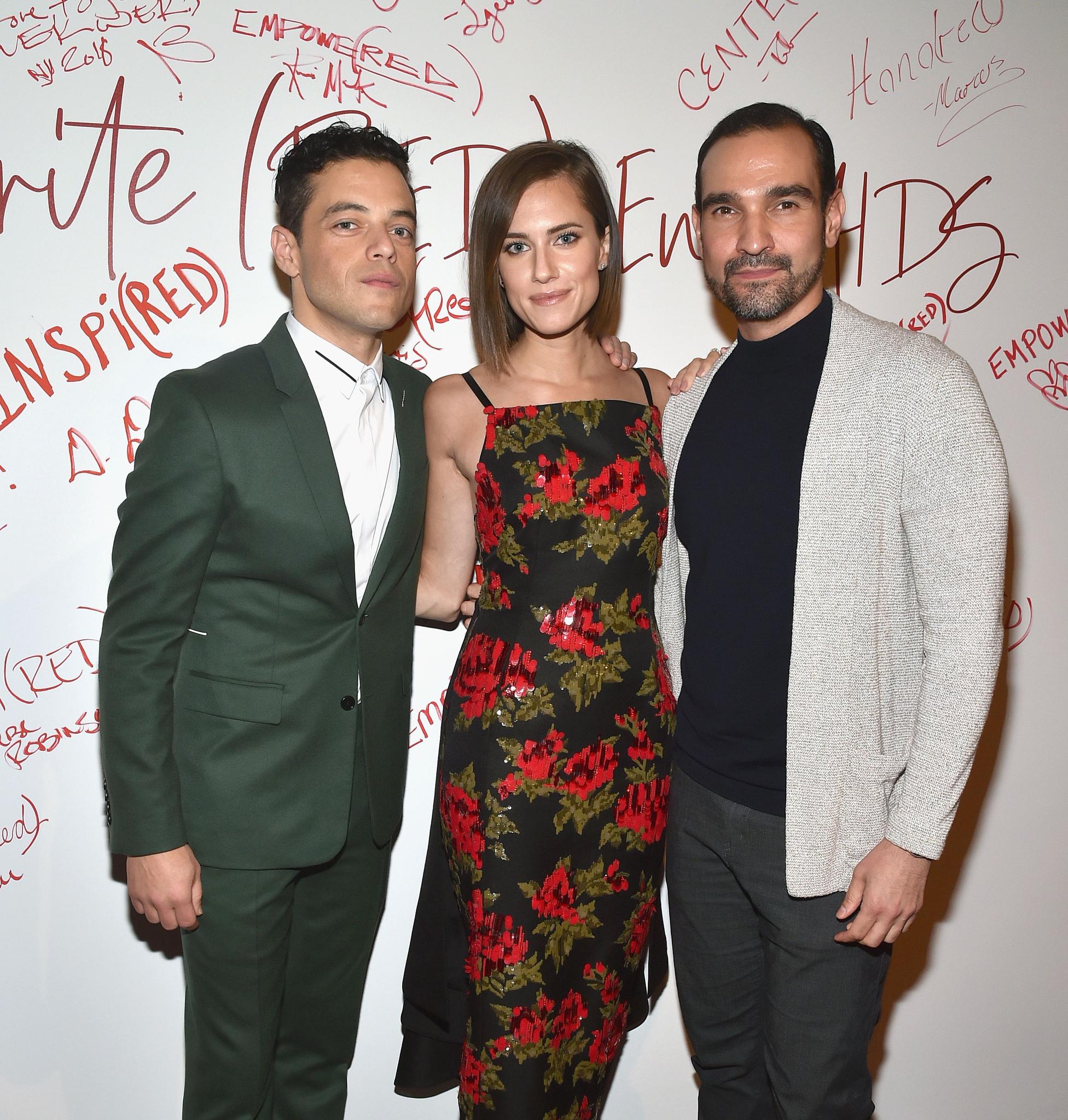 Rami Malek, Allison Williams and Javier Muñoz.