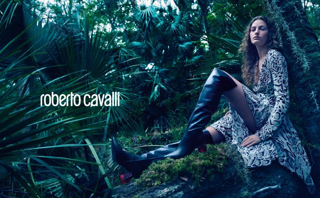 The Roberto Cavalli fall 2018 ad campaign lensed by Mario Sorrenti.