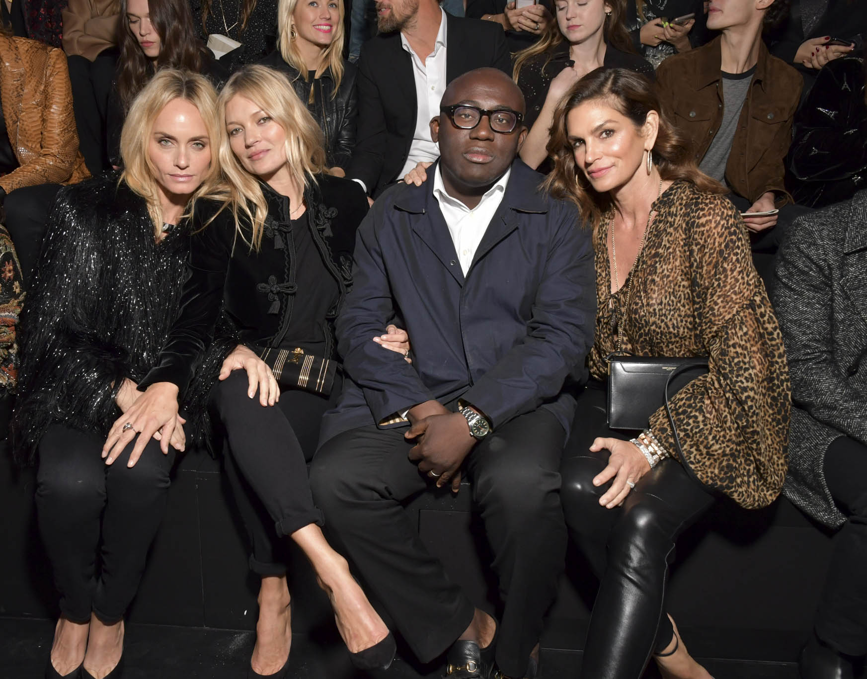 Amber Valletta, Kate Moss, Edward Enninful and Cindy Crawford