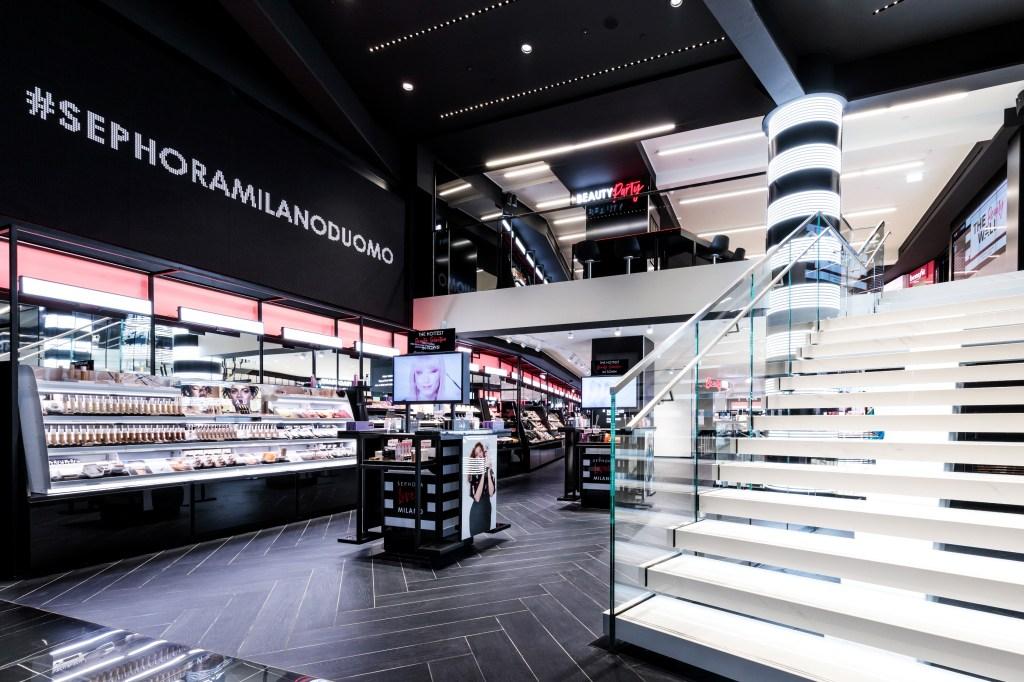 The Sephora flagship in Milan.