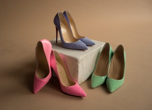 Shoes from the Germanier capsule with Christian Louboutin.