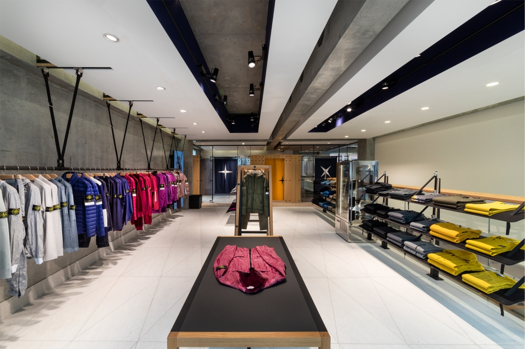 The new Stone Island flagship in Tokyo's Minami-Aoyama district.