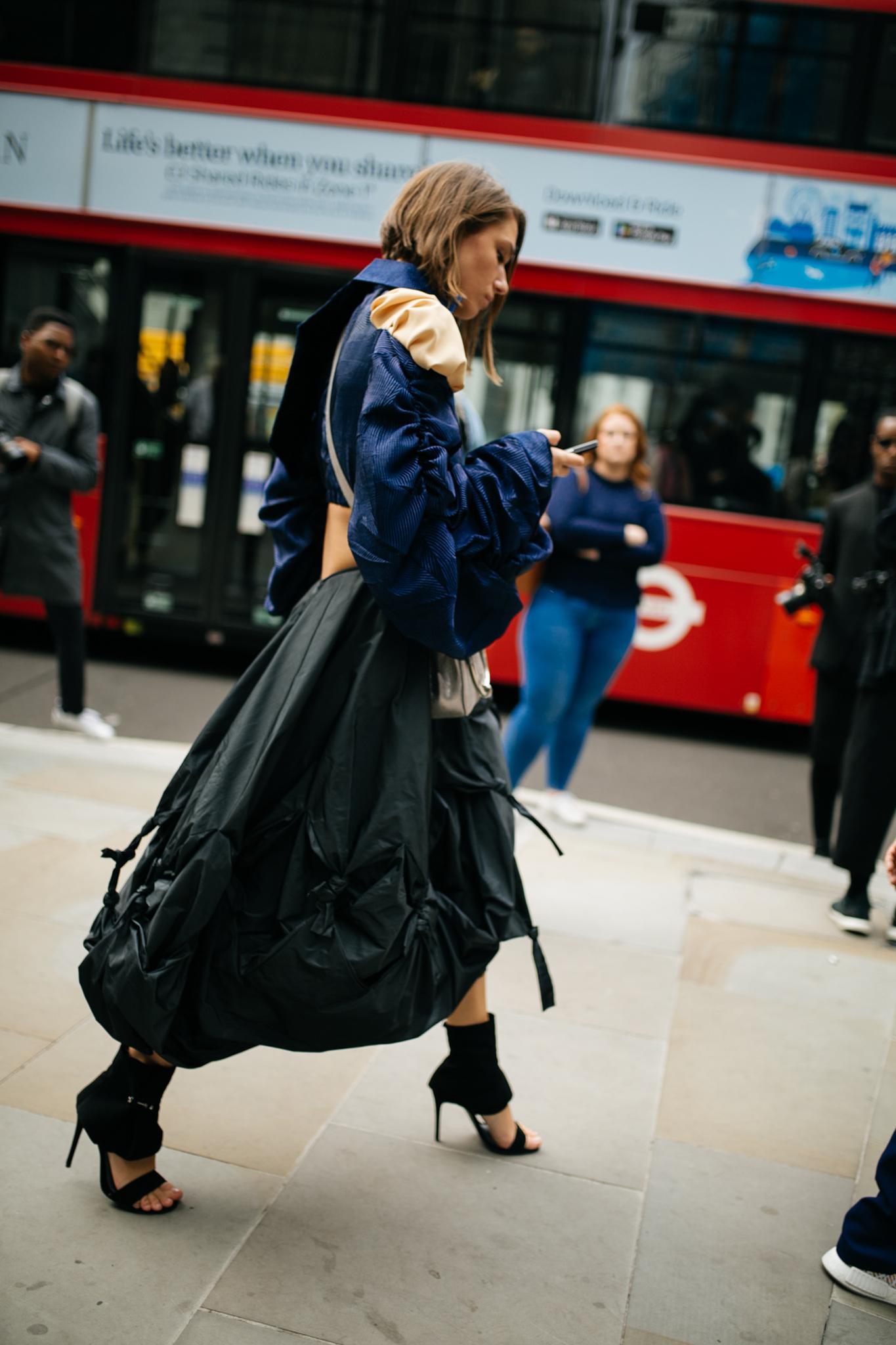 Street style at London Fashion Week spring/summer 2019