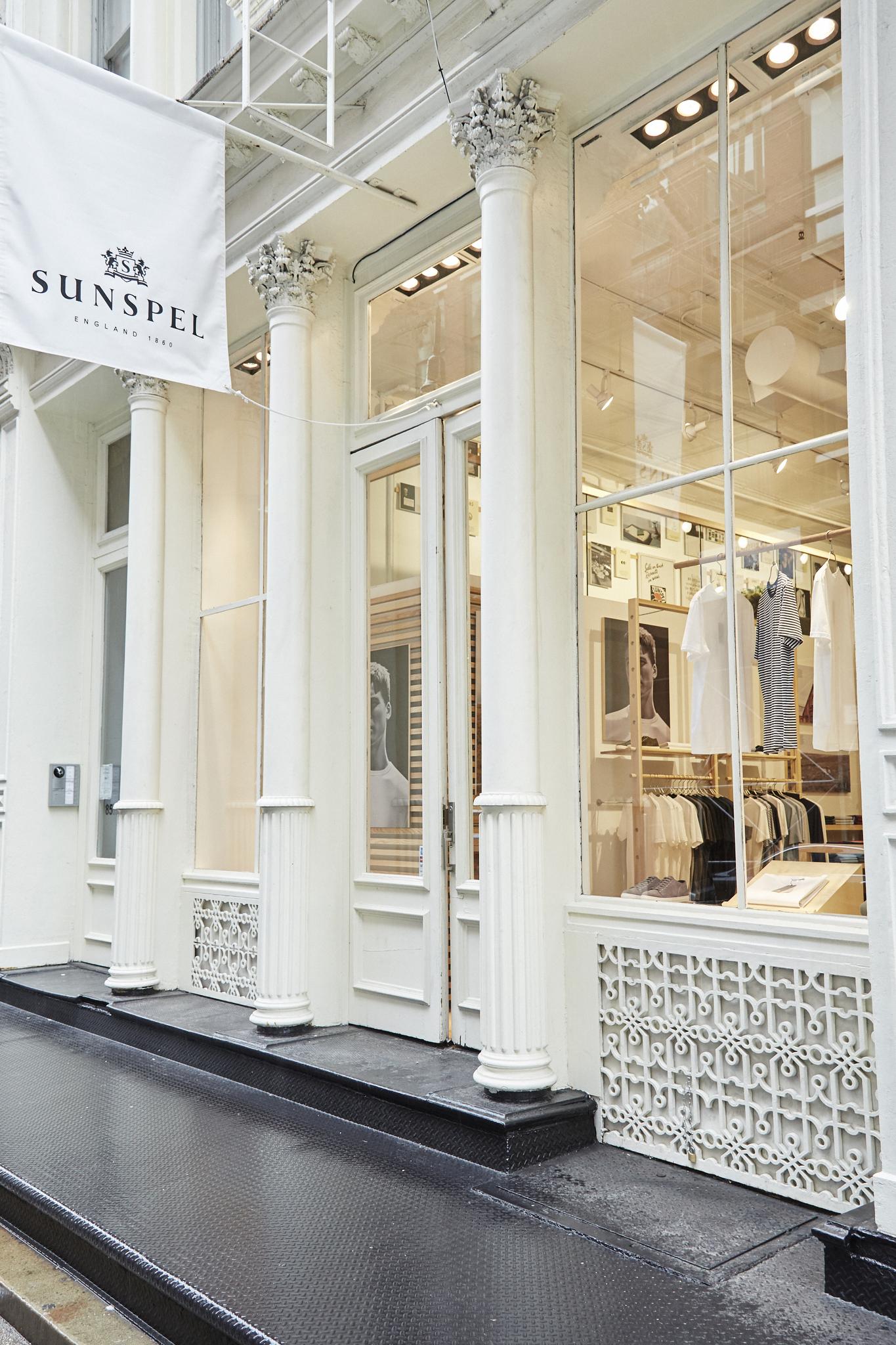 Sunspel's first U.S. store in New York's SoHo.