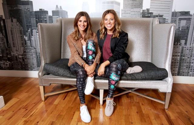 Carly Zakin and Danielle Weisberg in the Terez leggings.