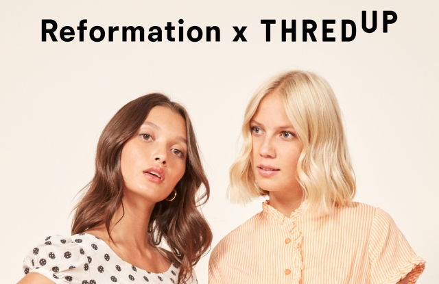 Reformation is partnering with ThredUp to collect unwanted clothing from its customers.