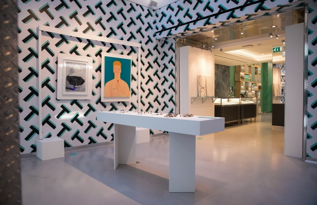 The exhibition inside the Tiffany & Co store in Covent Garden