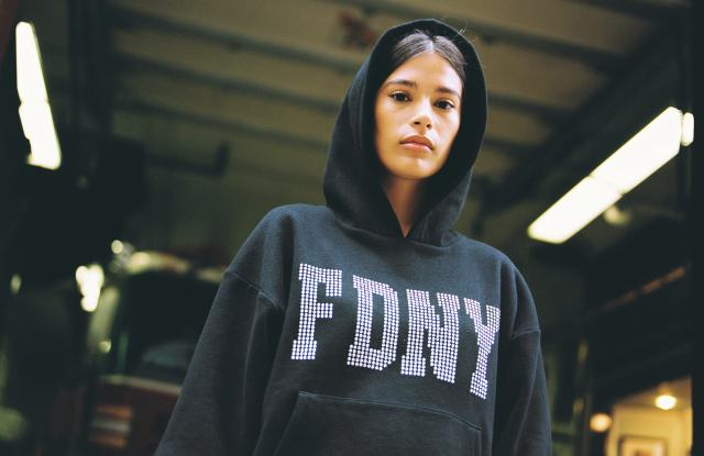 A hoodie from the designer's new FDNY-inspired line.