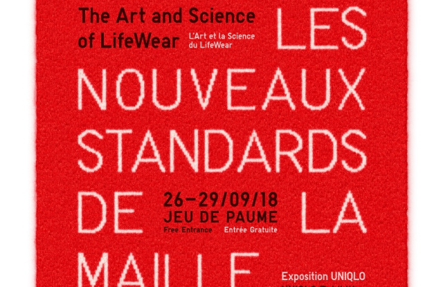 The poster for the Uniqlo exhibition in Paris.