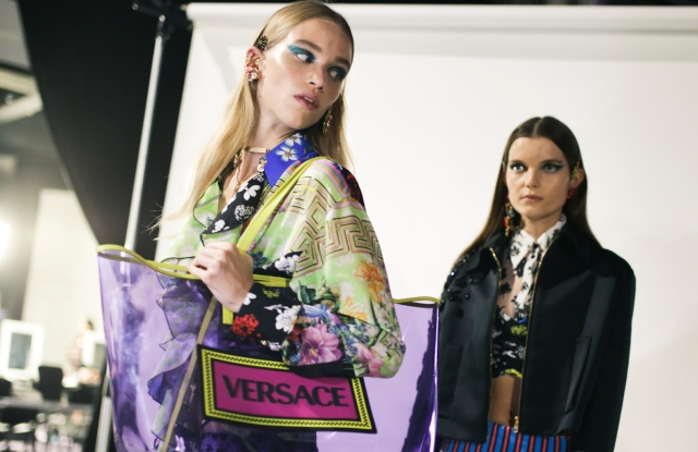 Backstage at Versace RTW Spring 2019