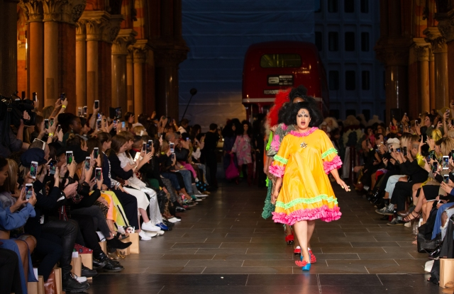 Vin + Omi showed their spring collection at London's St Pancras train station.