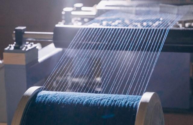 Wrangler's Foam Dye process. Photo courtesy of Wrangler