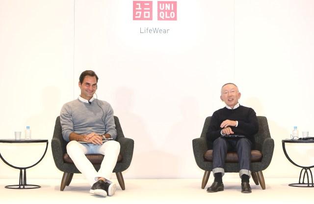 Roger Federer and Tadashi Yanai