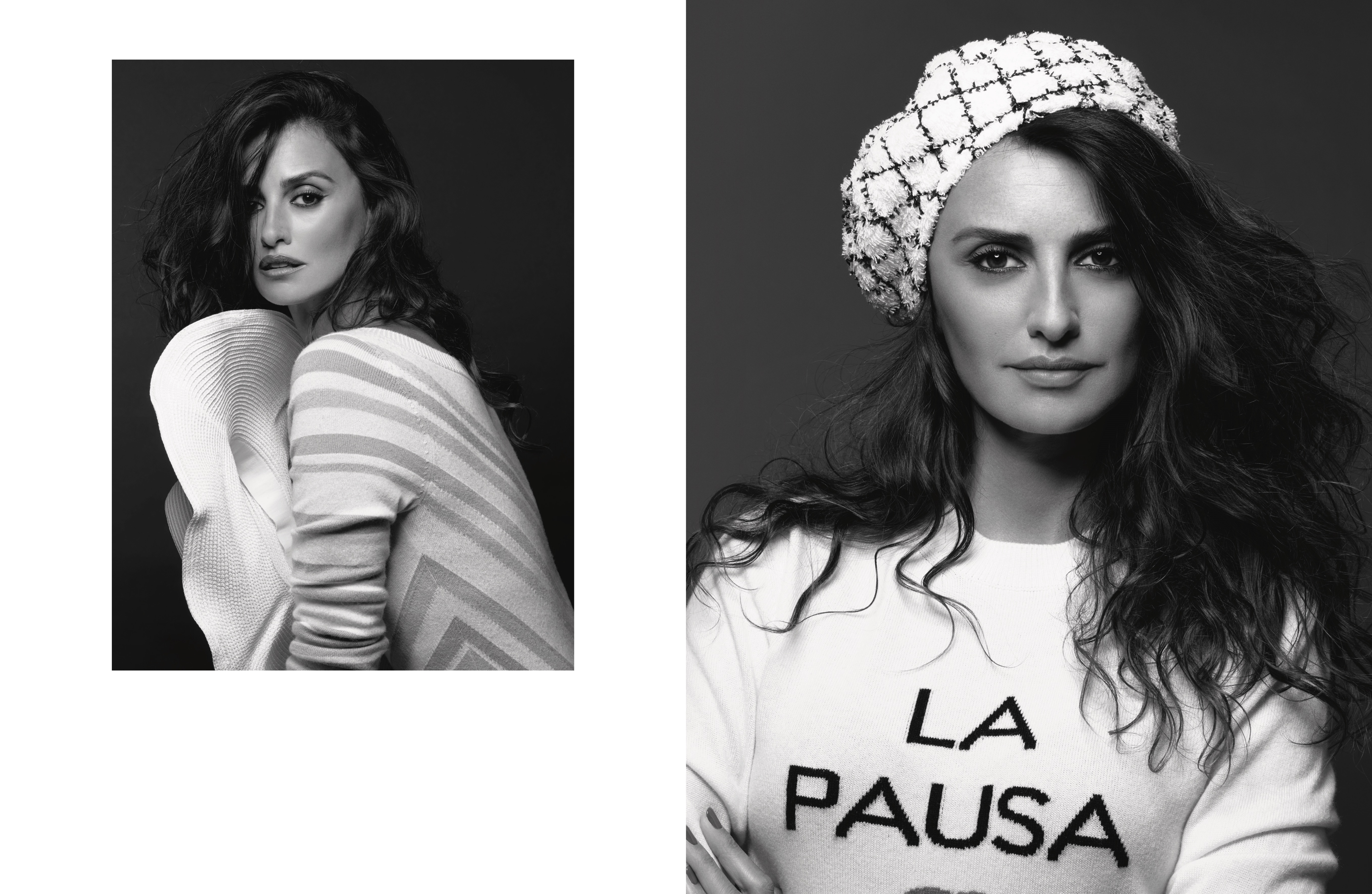 Penélope Cruz in the Chanel cruise ads.