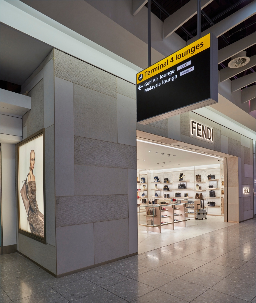 The Fendi boutique at Heathrow Terminal 4