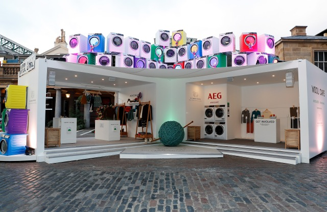 Wool Week's Wool Care Installation in the heart of Covent Garden Piazza
