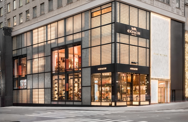The Coach store on Fifth Avenue in Manhattan.