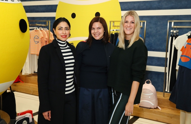 NEW YORK, NY - OCTOBER 16:  (L-R) Sana Rezwan Sait, Carolyn Angel and Casey Fremont attend Art Sundae with Art Production Fund at Tory Sport Flatiron on October 16, 2018 in New York City.  (Photo by Astrid Stawiarz/Getty Images for Tory Sport)
