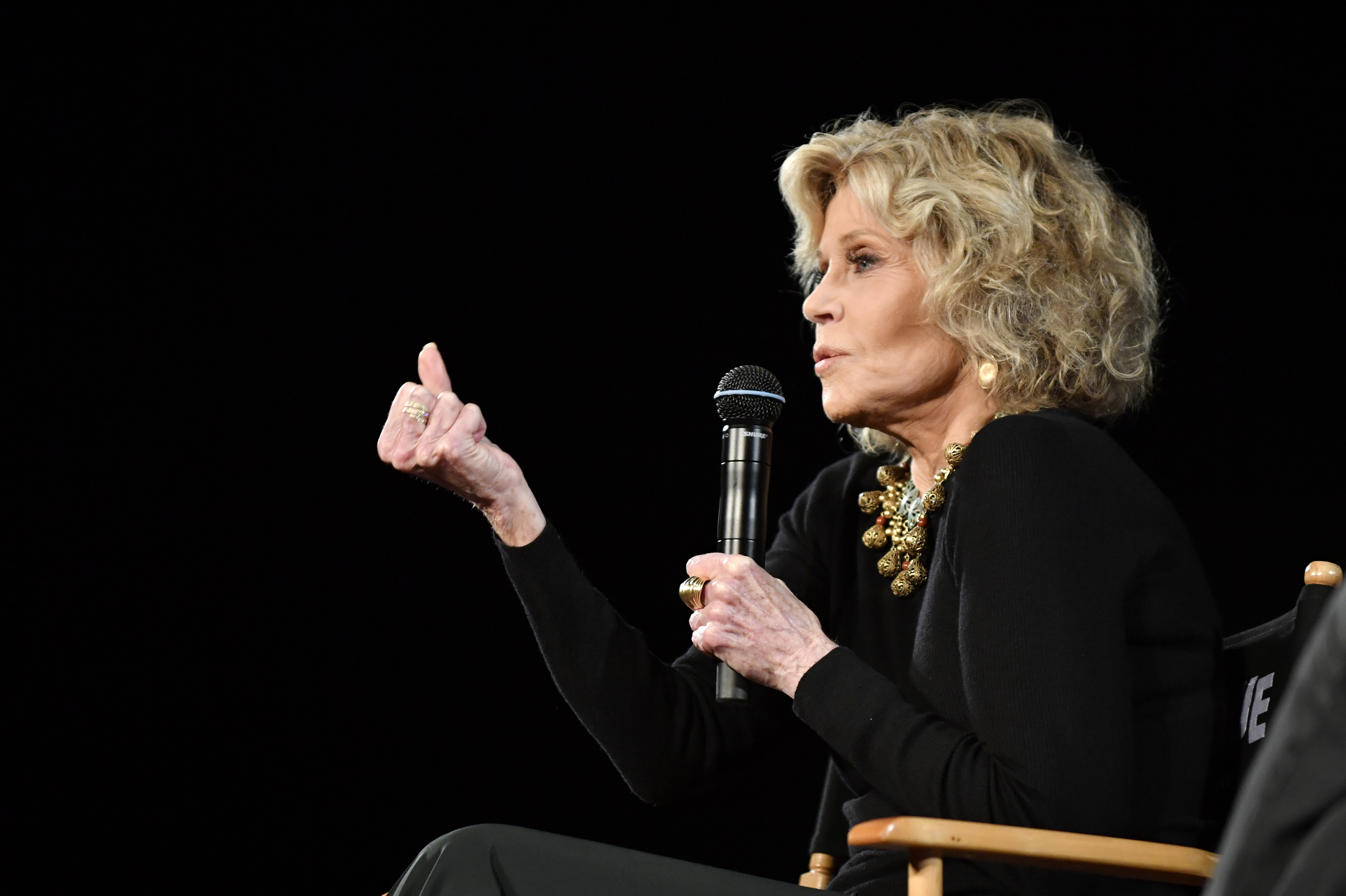 Jane Fonda spoke at a Kering Woman in Motion event