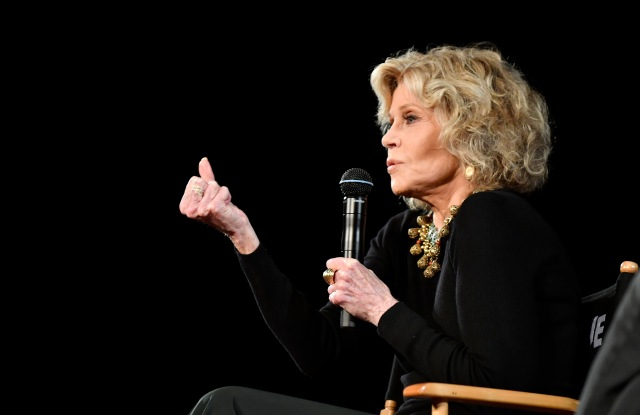 Jane Fonda spoke at a Kering Woman in Motion event