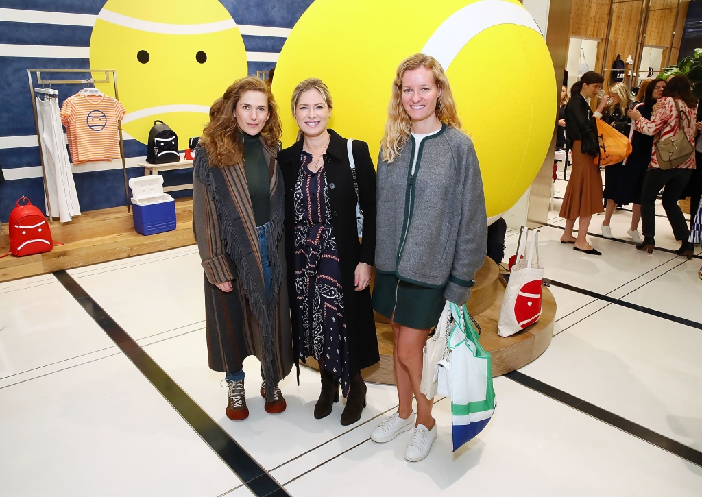 NEW YORK, NY - OCTOBER 16: (L-R) Clare Olshan, Andrea Saper and Marlies Verhoeven attend Art Sundae with Art Production Fund at Tory Sport Flatiron on October 16, 2018 in New York City. (Photo by Astrid Stawiarz/Getty Images for Tory Sport)