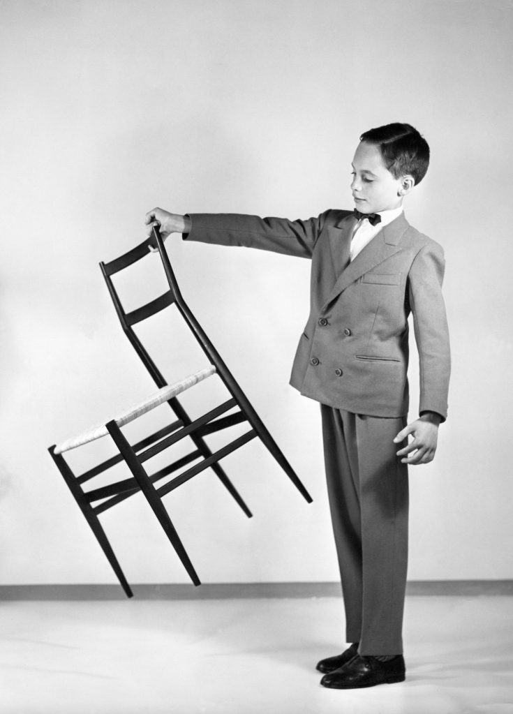 The Superleggera chair designed by Ponti for Cassina in 1957