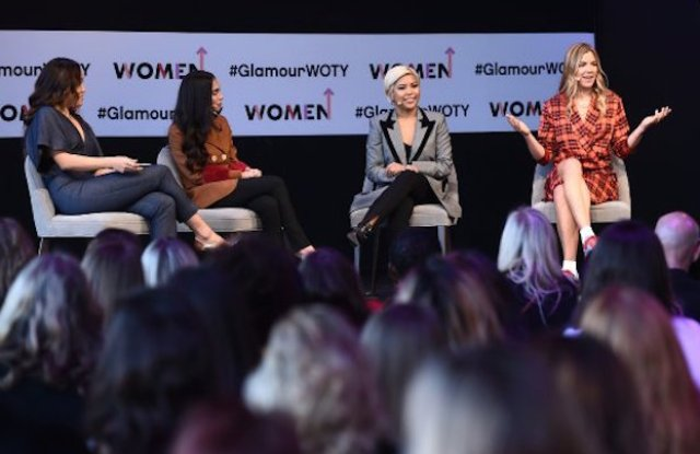From left: Sutian Dong of Female Founders Fund, Audrey Gelman, Jen Rubio and Ty Haney at Glamour's Women of the Year conference.