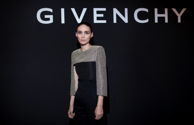 Rooney Mara at the Givenchy dinner.