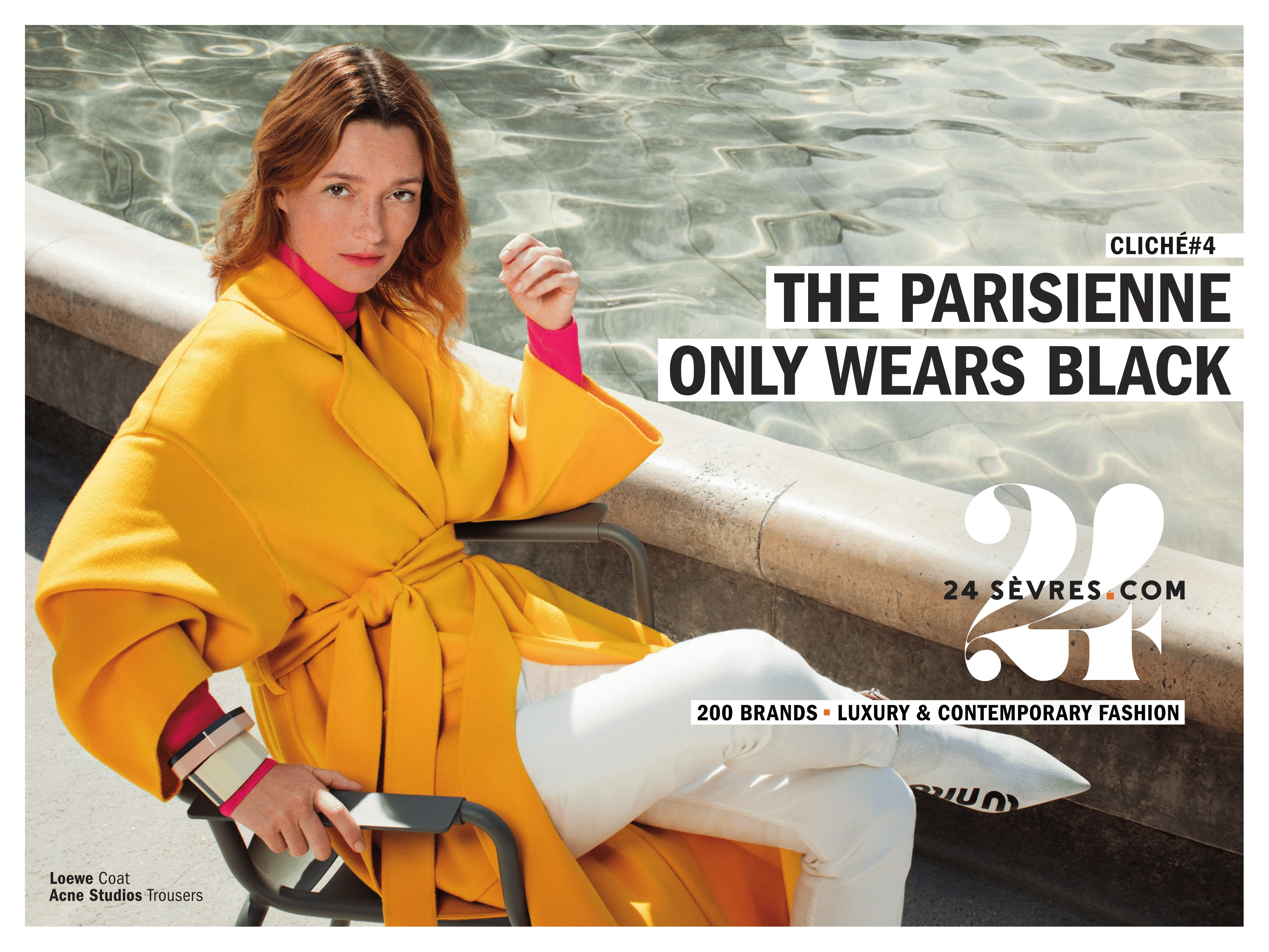 Audrey Marnay stars in the new 24 Sèvres campaign