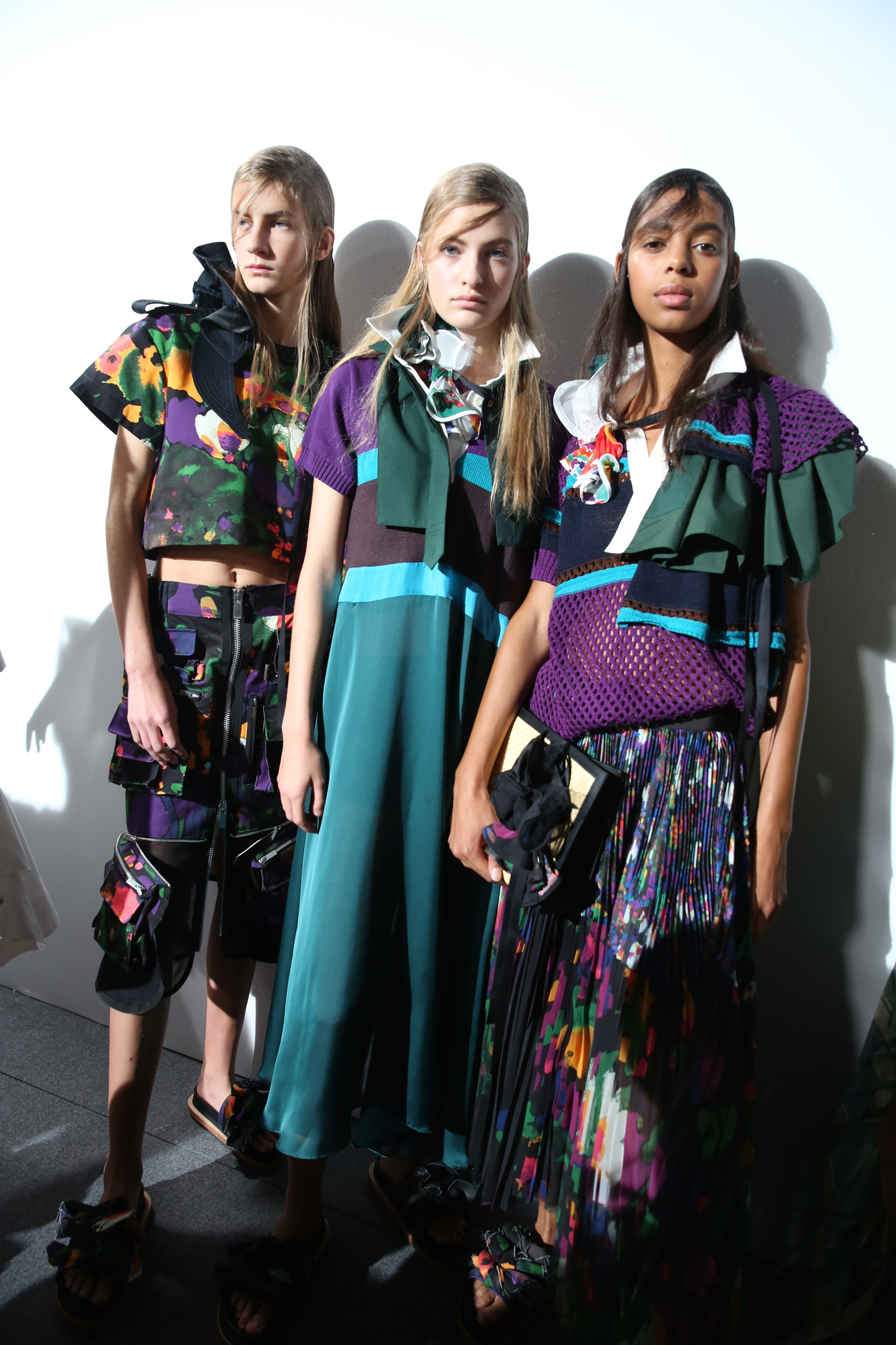 Backstage at Sacai RTW Spring 2019
