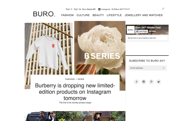 The new Buro visual identity