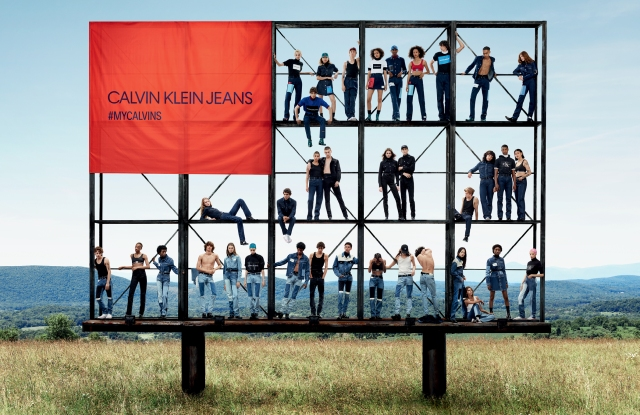 Calvin Klein Jeans fall 2018 billboard campaign.