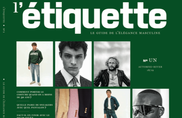 The first issue of L'Etiquette magazine
